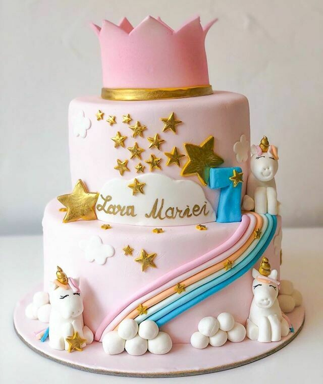 Stars Mermaid And Rainbow Cake