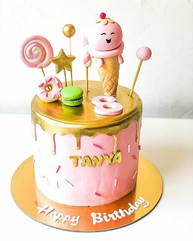 Candy theme Cake with Gold Dripping - 3D