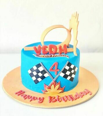 Hot Wheels Race Track Cake