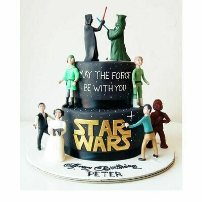 Star Wars Theme  2 Tier Cake