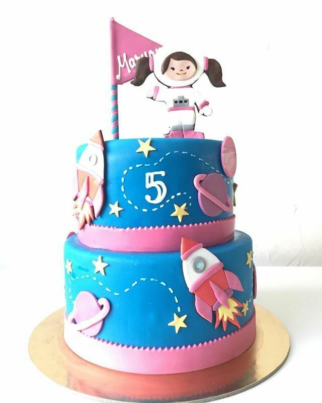 Astronauts Theme 2 Tier Cake