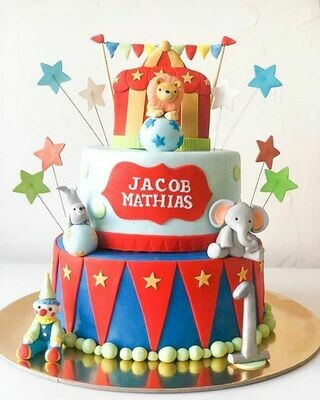 Circus Theme Cake - 3D