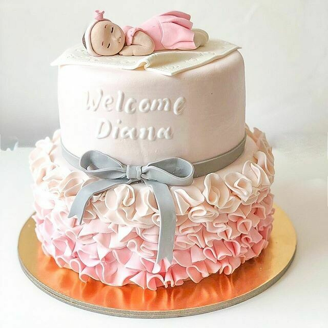 Baby Arrival cake - 3D