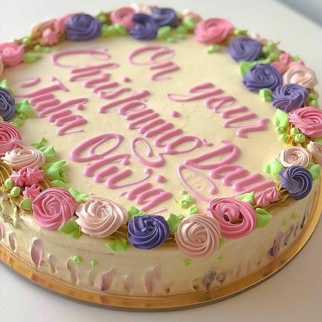 Christening Cake in Buttercream