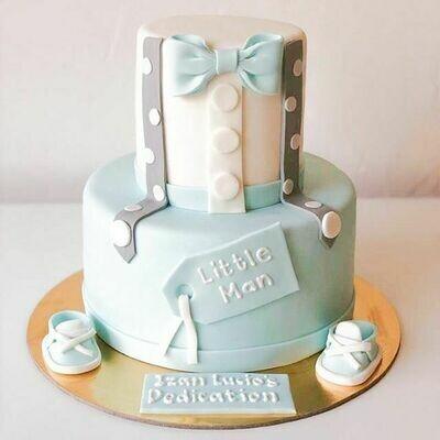 2 tier Baby Dedication Cake