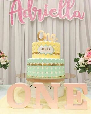 2 Tier Cake for 1st Birthday