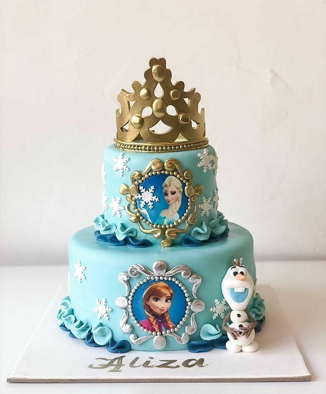 Frozen 2 Tier Cake - 3D