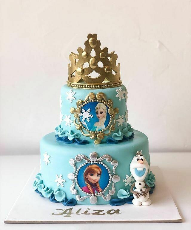 Frozen 2 Tier Cake - 3D