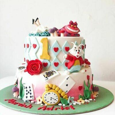 Alice in Wonderland Cake - 3D