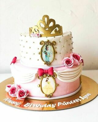 2 tier Princess Cake with Picture