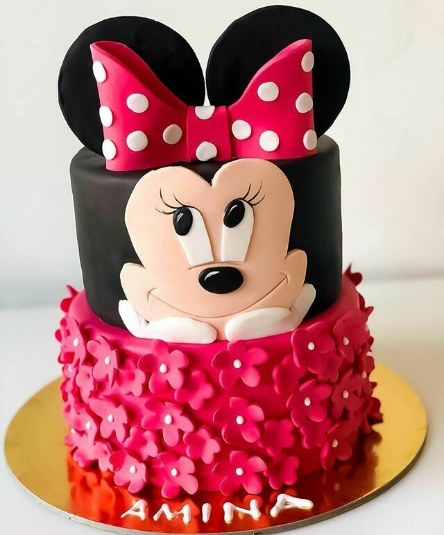 Minnie Mouse 2 Tier Cake