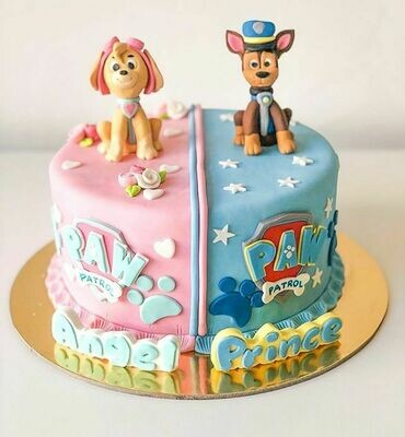 Paw Patrol Cake for Twins - 3D