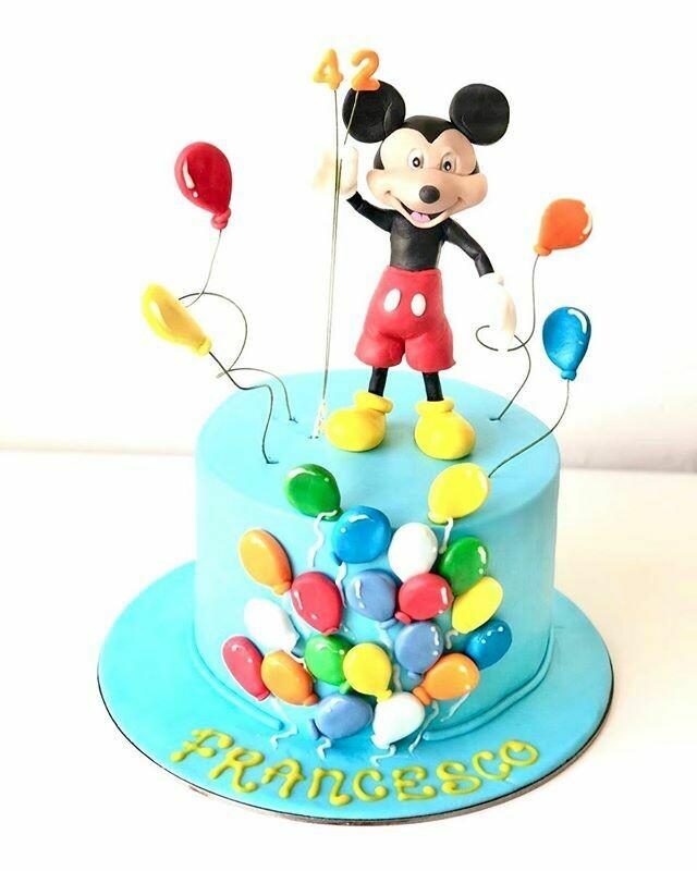 Mickey Mouse Balloon Cake - 3D