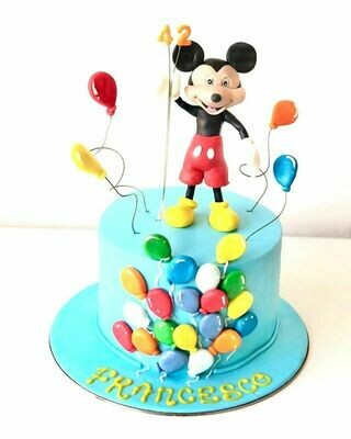 Mickey Mouse Balloon Cake - 3D