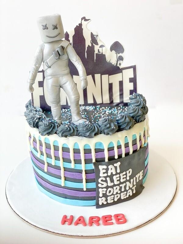 Fortnite cake - 3D