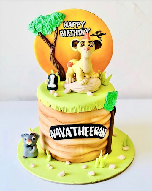 Lion King Cake - 3D