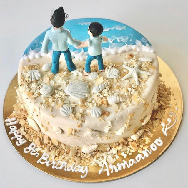 Sea / Beach Cake - 3D