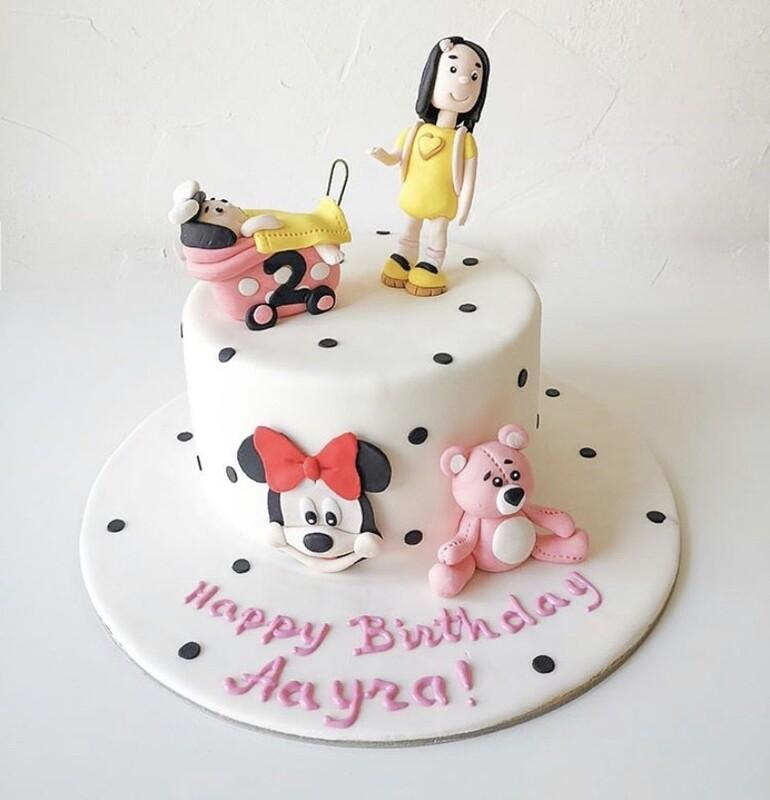Little Girl's Cake - 3D
