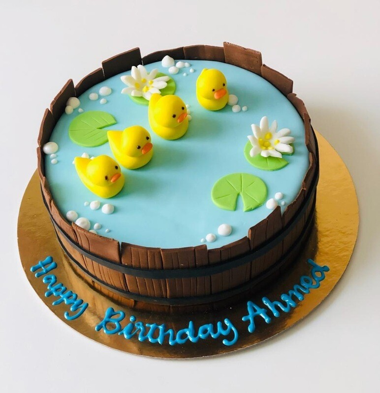 Duck in the Pond Cake