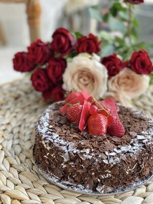 Black Forest Cake with Roses