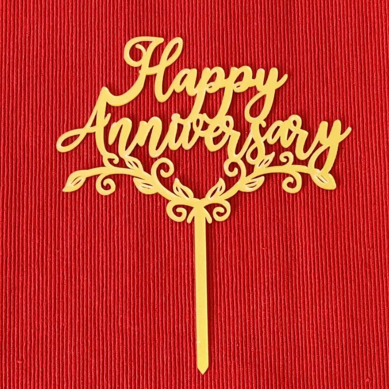 Happy Anniversary in golden design