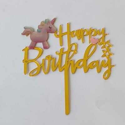 Happy Birthday with Unicorn