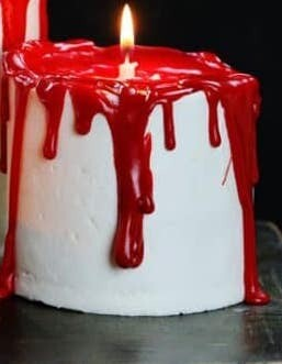 Halloween Special Red Candle Cake
