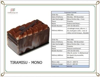 Special- mono Tiramisu