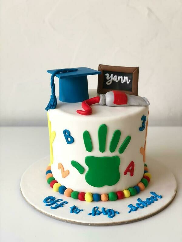 Off to Big School Cake