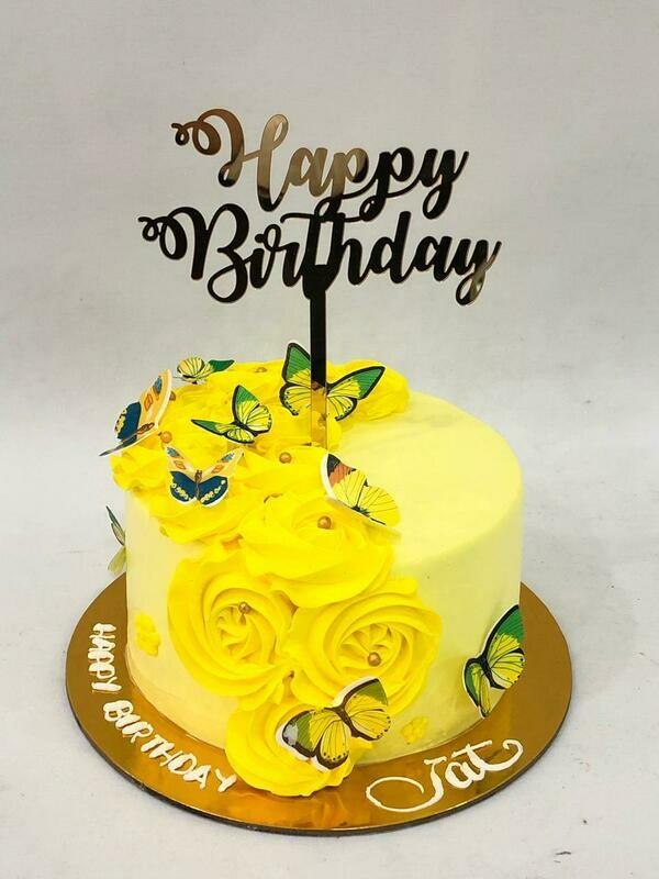 Butterfly Fresh Cream Cake