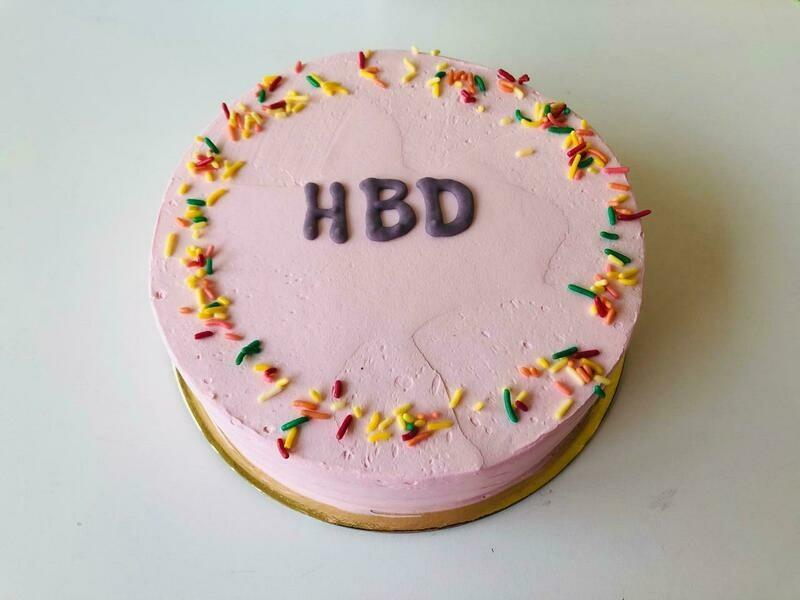 HBD Butter Cream Cake