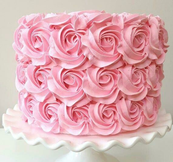 Rosette Cream Cake