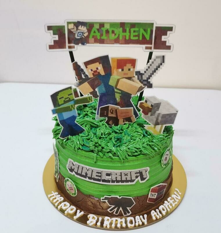 Edible Print Minecraft Cake