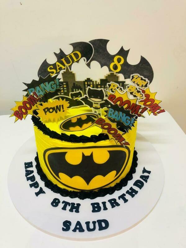 Edible Print Batman Cake