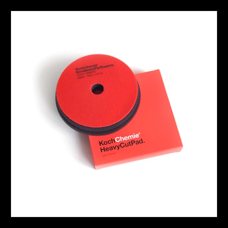 Полировальный круг Твердый Koch Chemie HEAVY CUT PAD (150мм) Красный