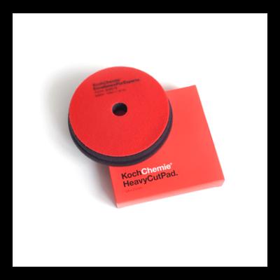 Полировальный круг Твердый Koch Chemie HEAVY CUT PAD (126мм) Красный