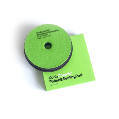 Полировальный круг Очень мягкий Koch Chemie POLISH & SEALING PAD (126мм) Финишный Зеленый