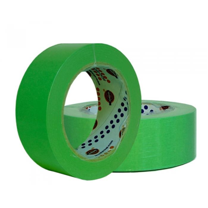 Малярный скотч лента EUROCEL Зеленый (19мм х 40м)