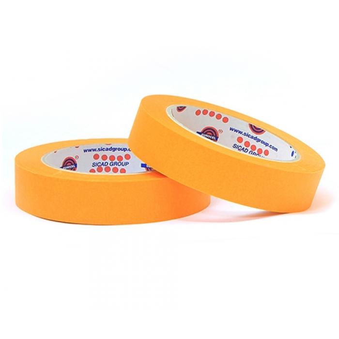 Малярный скотч лента EUROCEL Оранжевый (25мм х 40м)