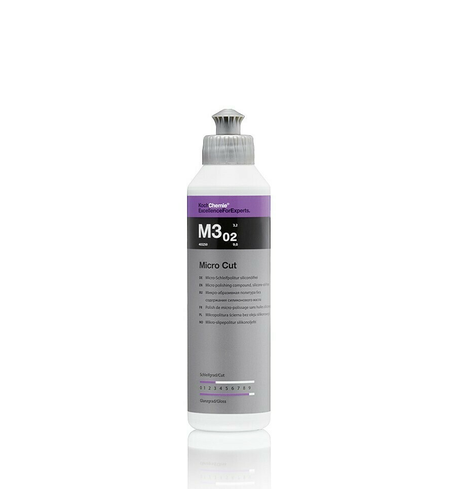 Полировальная паста Микро-абразивная Koch Chemie M3.02 MICRO CUT (250мл)