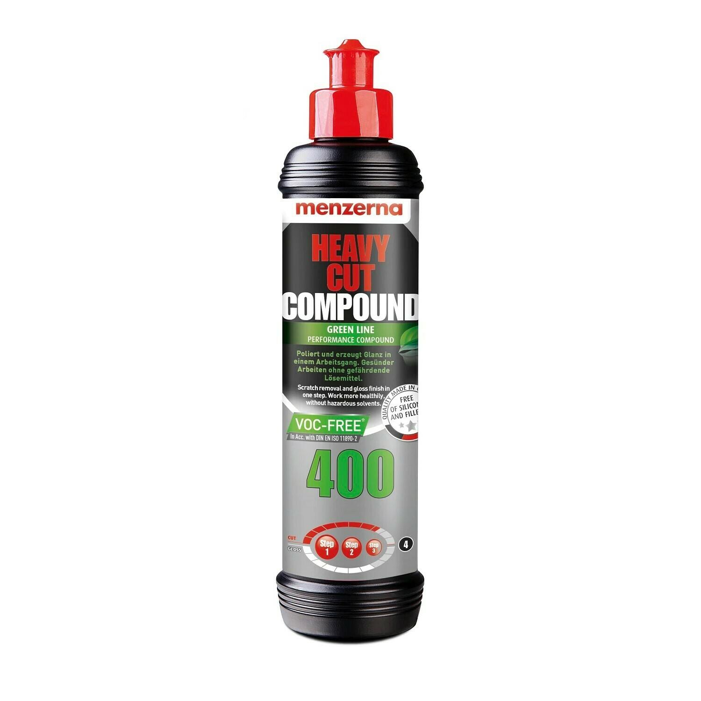 Полировальная паста Высокоабразивная MENZERNA 400 GREEN LINE HEAVY CUT (250мл)