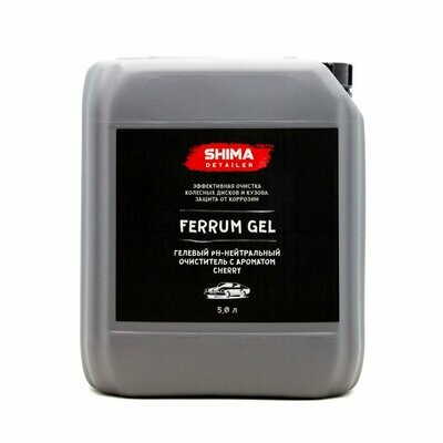 Очиститель дисков Нейтральный SHIMA DETAILER FERRUM GEL CHERRY (5л) Аромат Вишня