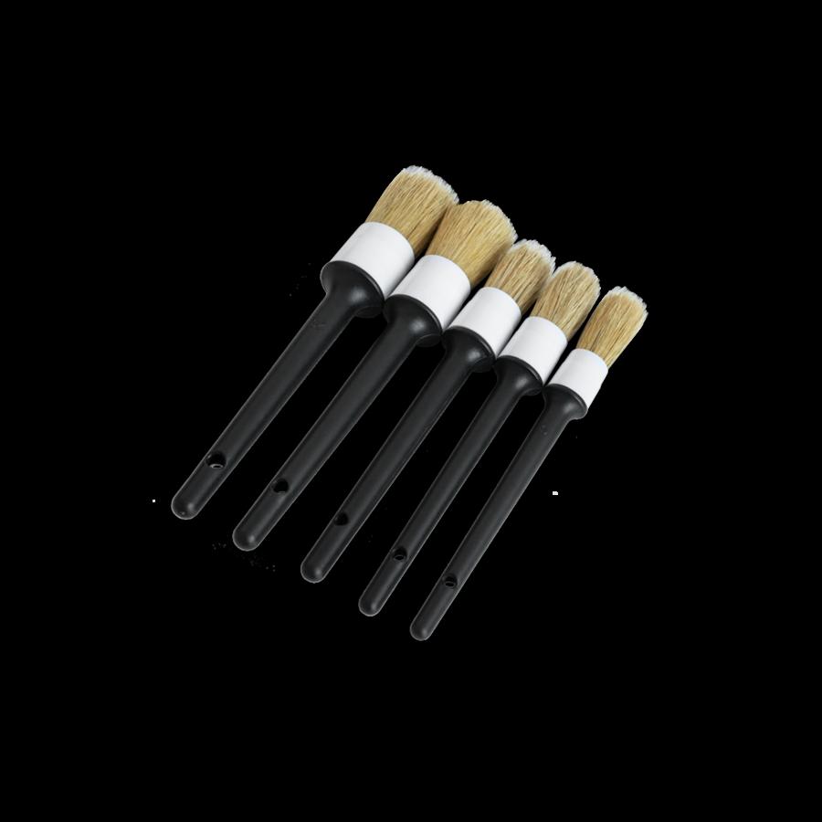 Кисточки для детейлинга из натурального волоса кабана AuTech (5шт)