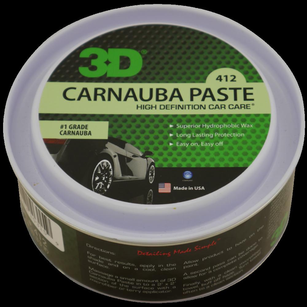 Твердый защитный воск Карнаубы для кузова 3D Car Care CARNAUBA PASTE WAX, 330мг