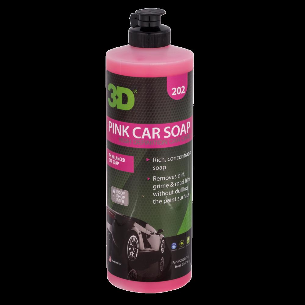 Автошампунь для ручной мойки Сбалансирвоанный 3D Car Care PINK CAR SOAP, 470мл