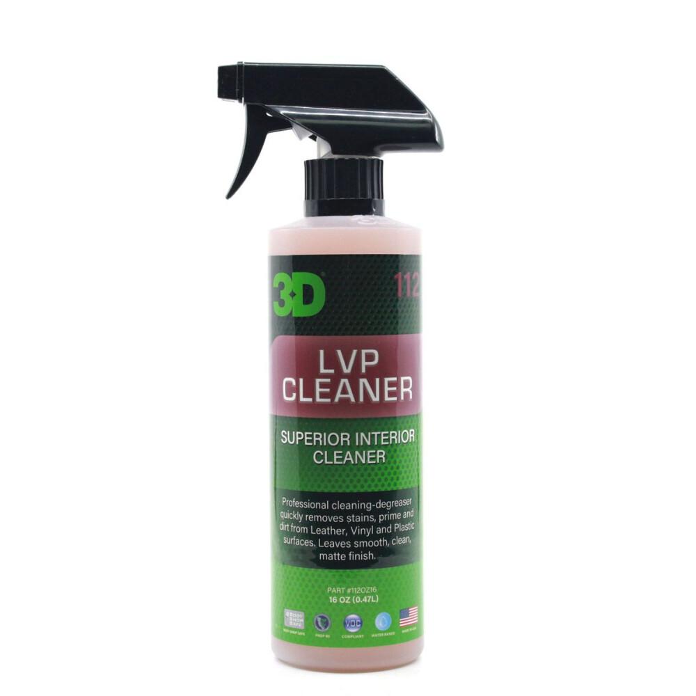 Органический очиститель кожи и пластика 3D Car Care LVP CLEANER, 470мл
