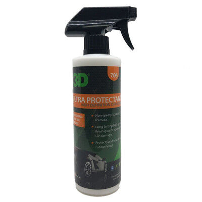 Чернение резины на водной основе 3D Car Care ULTRA PROTECTANT, 470мл