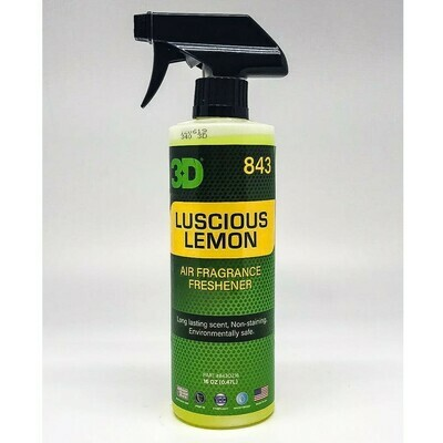 Освежитель воздуха Сочный лимон 3D Car Care LUSCIOUS LEMON, 470мл
