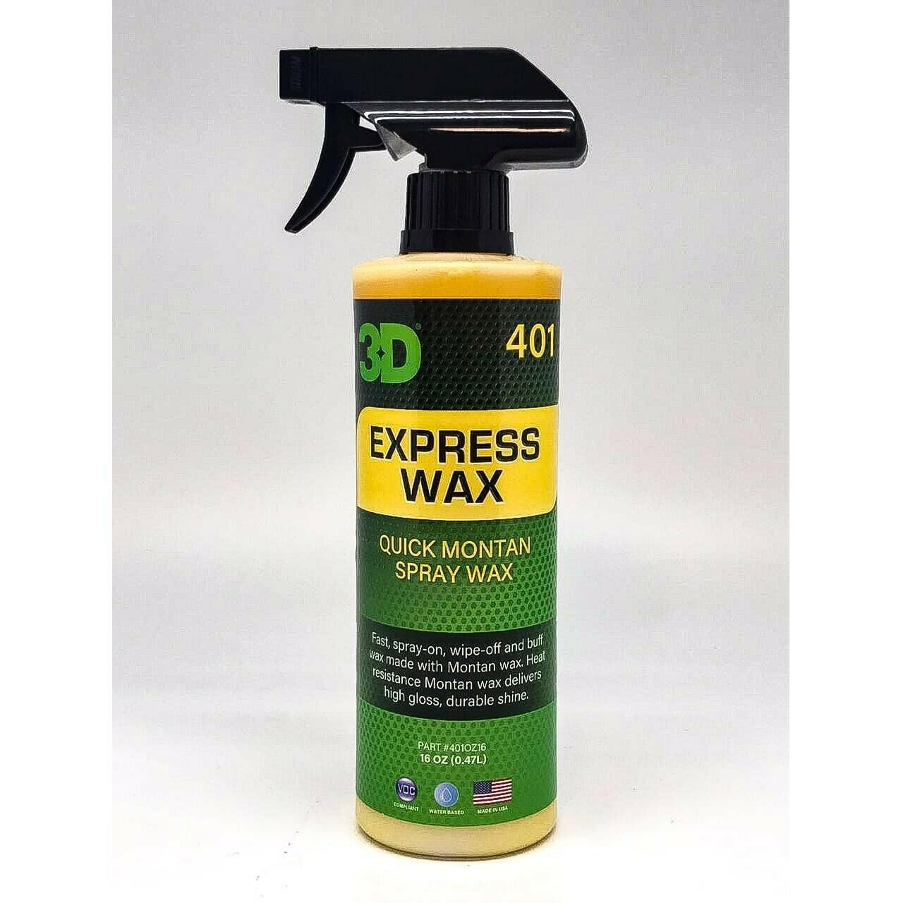 Экспресс воск для быстрого ухода за кузовом 3D Car Care EXPRESS WAX, 470мл