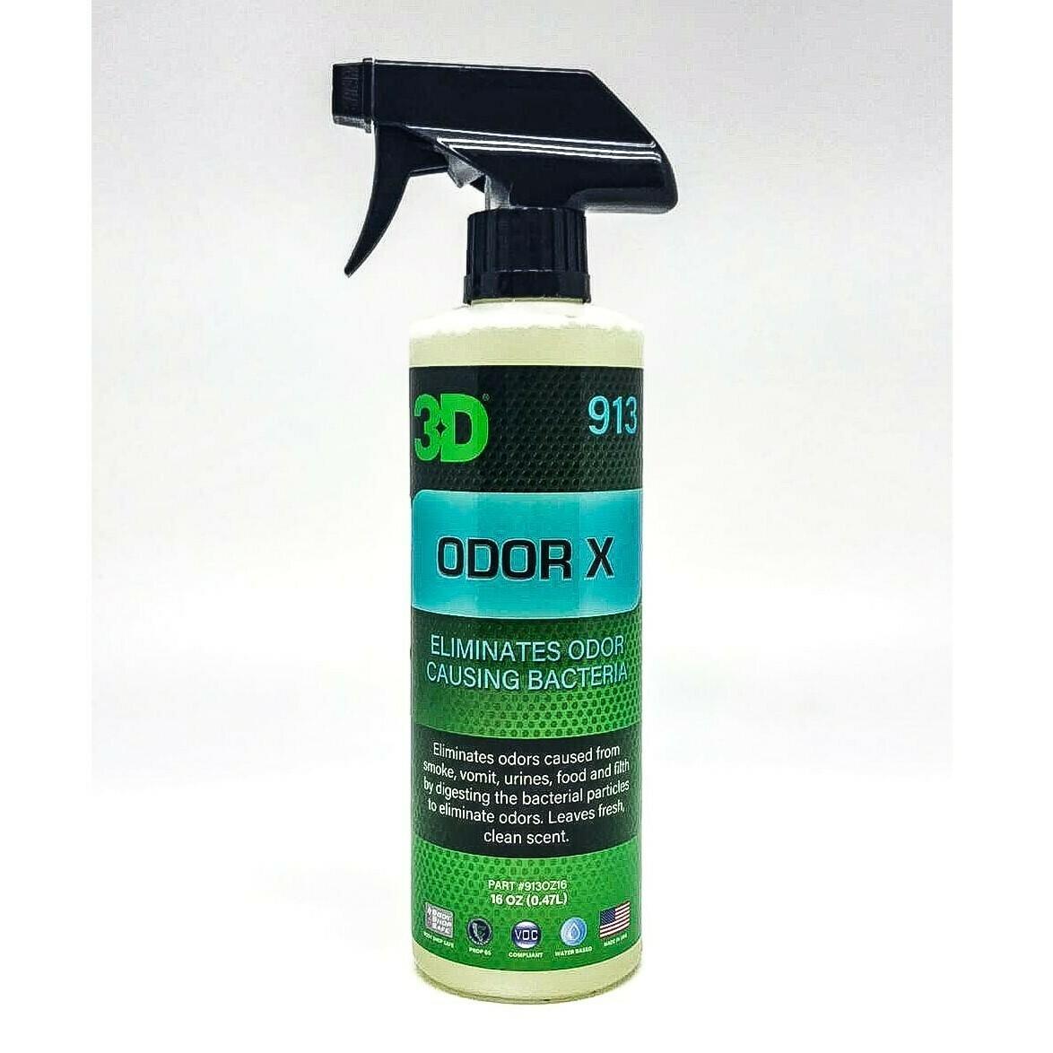 Ликвидатор запахов с бактериальными ферментами 3D Car Care Odor X, 470мл